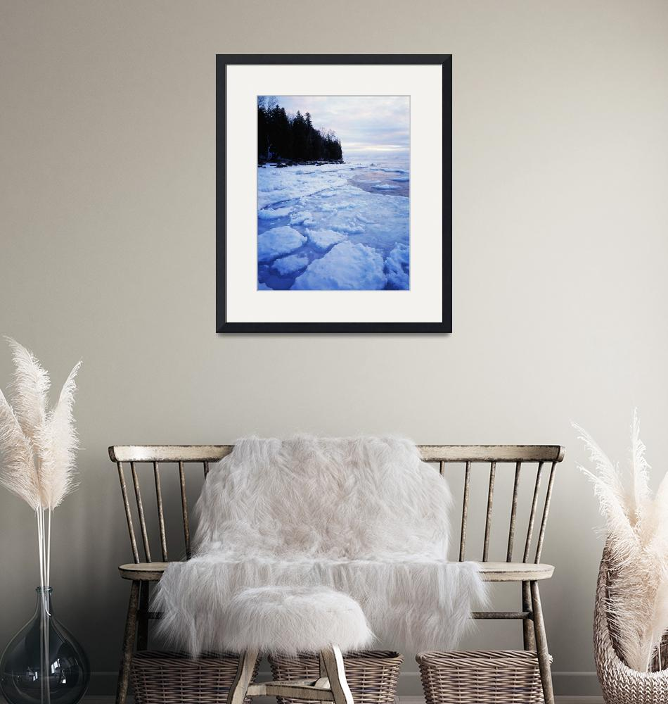 """Icy Lake Michigan shoreline"" by Panoramic_Images"