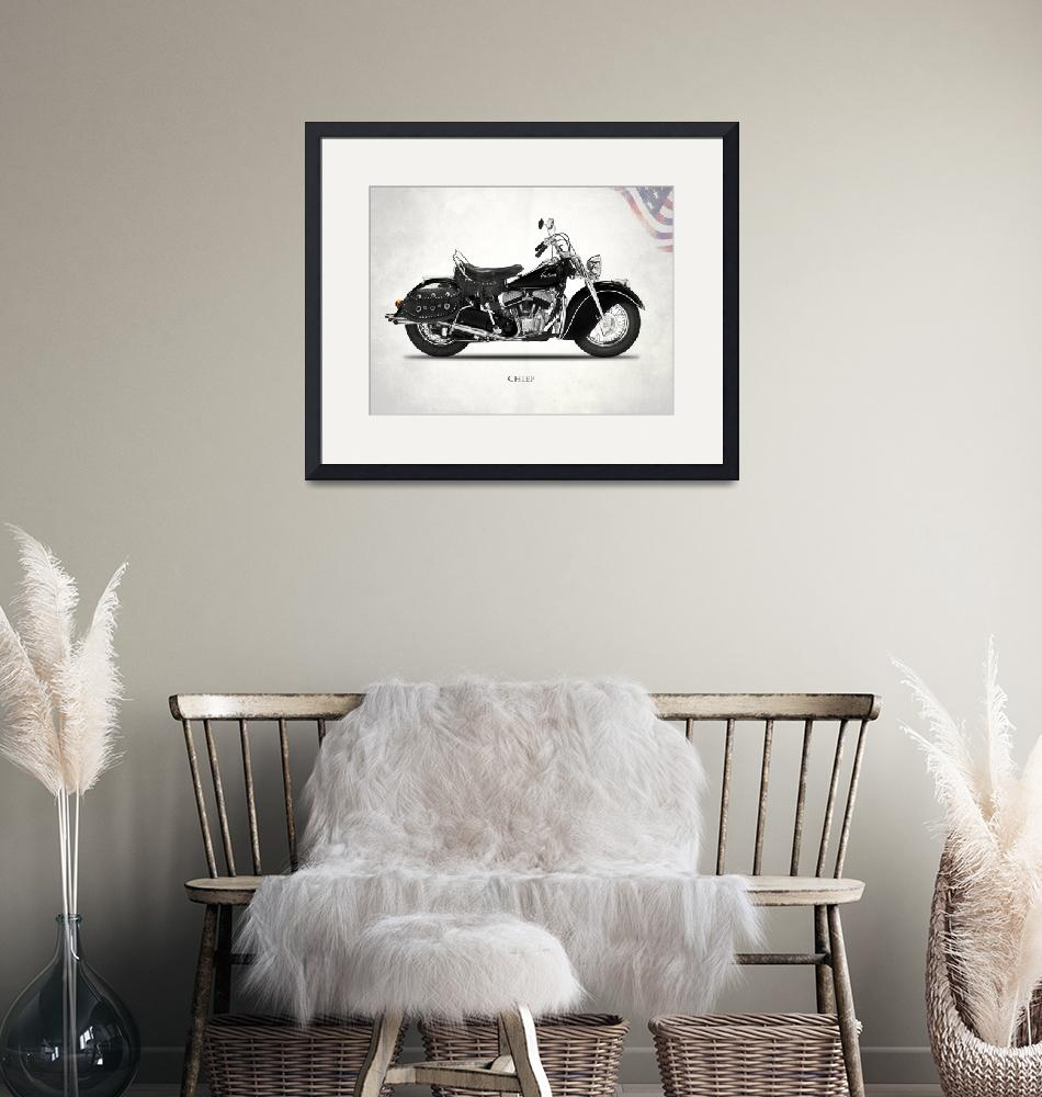 """The 1946 Chief Vintage Motorcycle""  by mark-rogan"