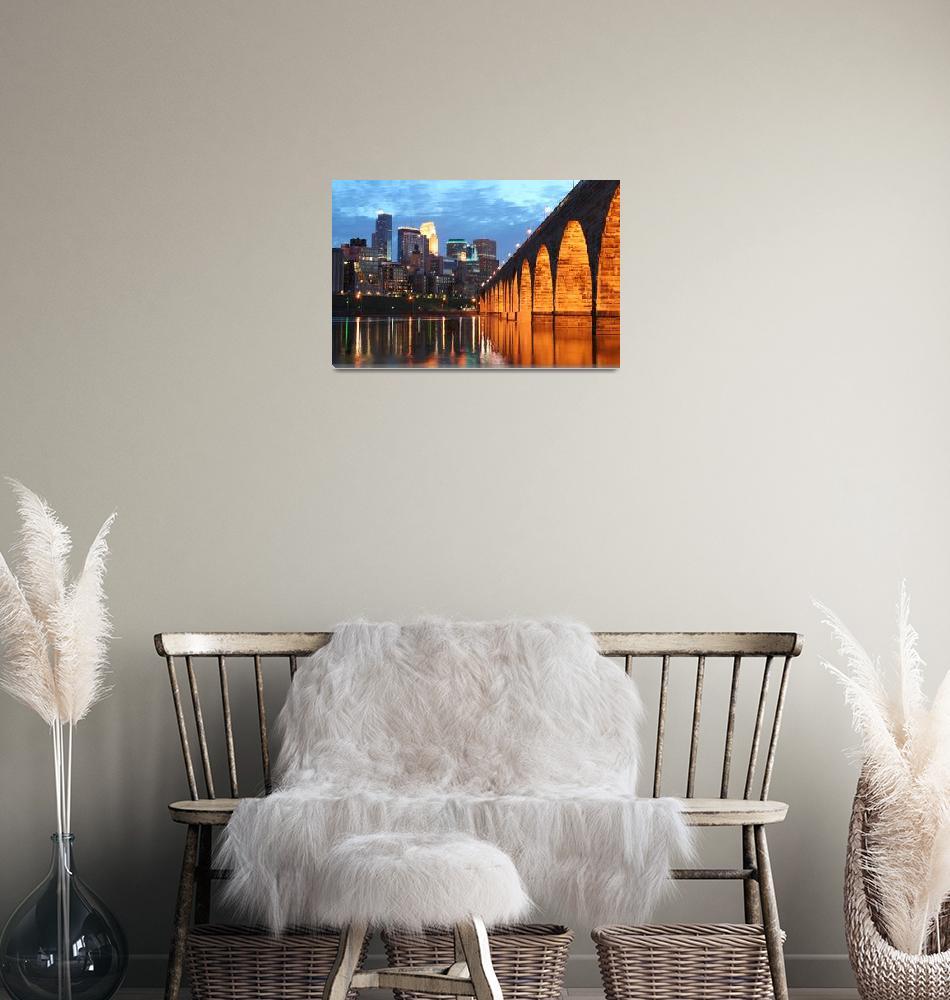 """Minneapolis Stone Arch Bridge""  (2007) by WaynePhotoGuy"