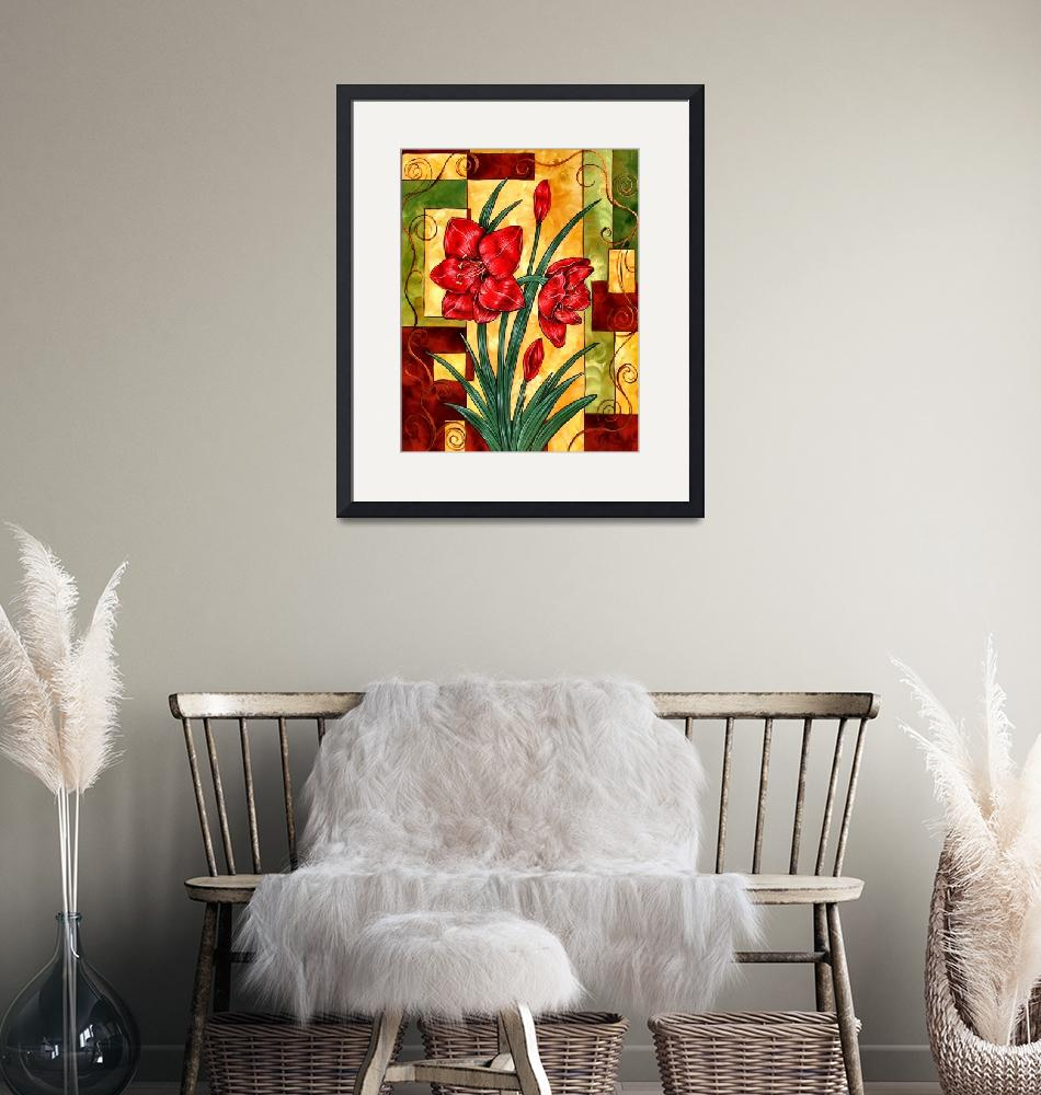 """""""Amaryllis Print"""" (2007) by artfulescapes"""