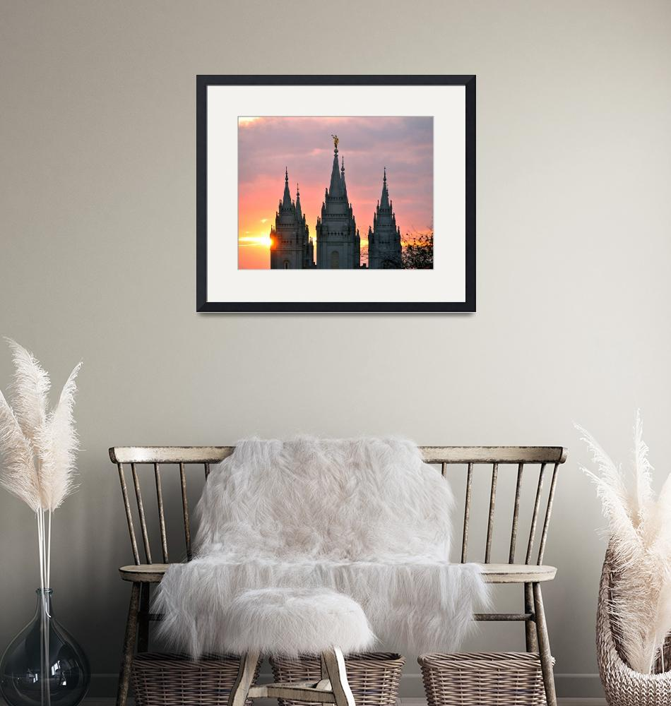 """""""salt lake temple from above sunset shots""""  by houstonryan"""