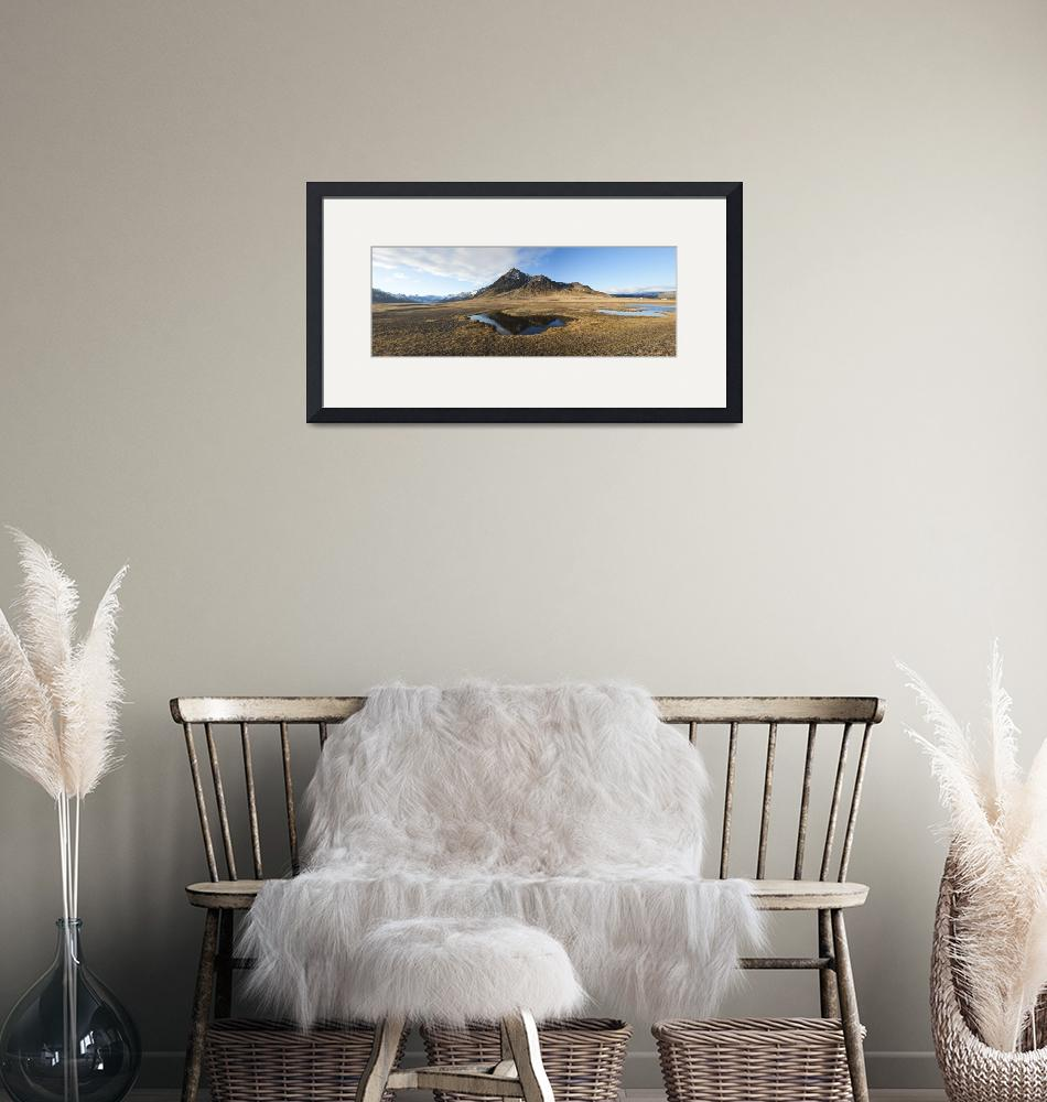 """""""Farm with a mountain in the background Iceland""""  by Panoramic_Images"""