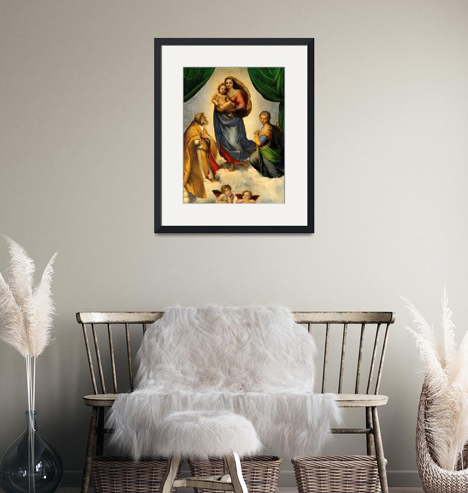 """Sistine Madonna Virgin Mary and Child Jesus Art""  (1910) by Maggy"