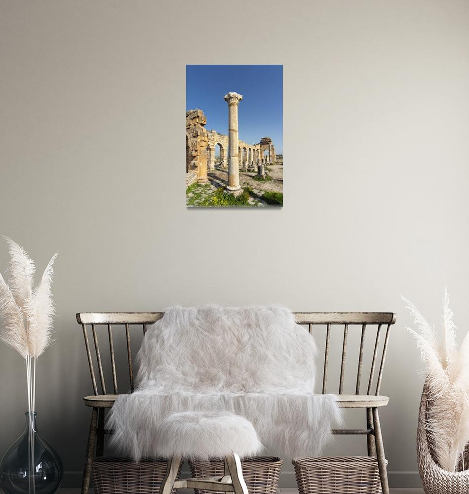 """""""Ruined Basilica at Volubilis, Morocco""""  by petrsvarc"""