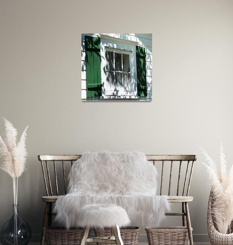 """""""Green Shutters, White House , Cape May, New Jersey""""  (2010) by mjphoto-graphics"""