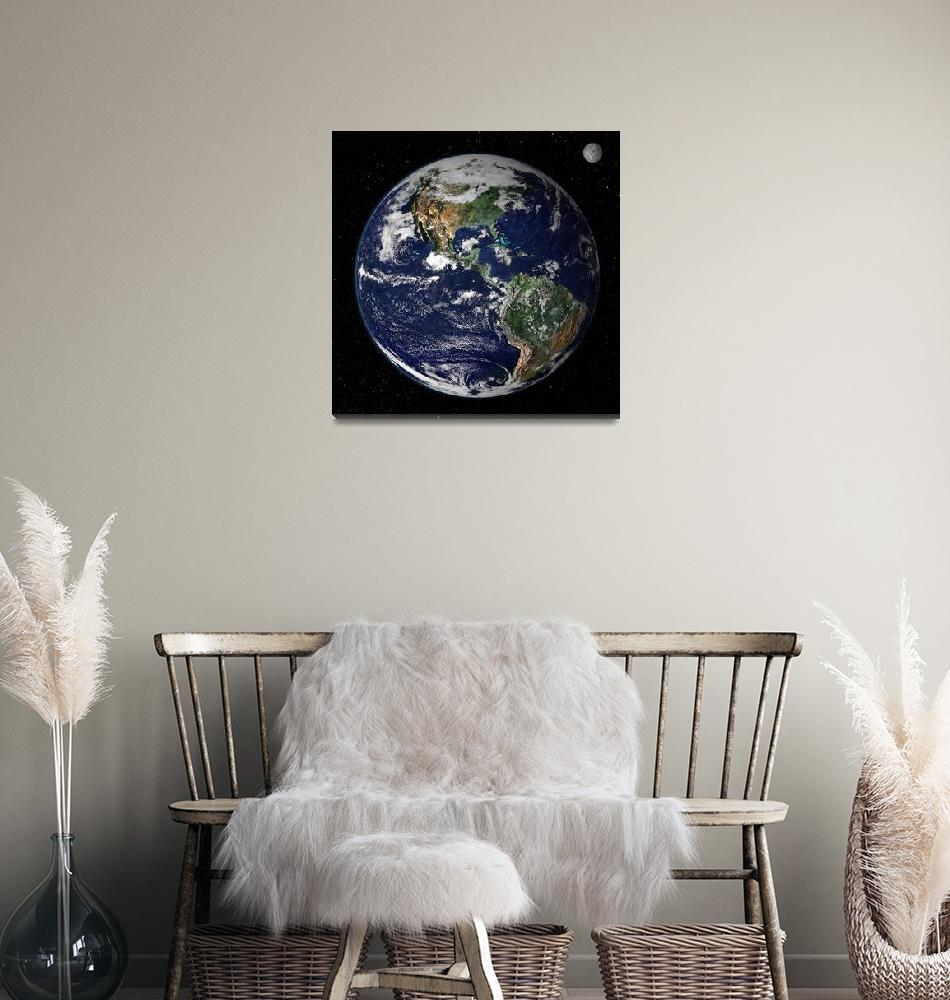"""""""Full Earth showing North and South America.""""  by stocktrekimages"""