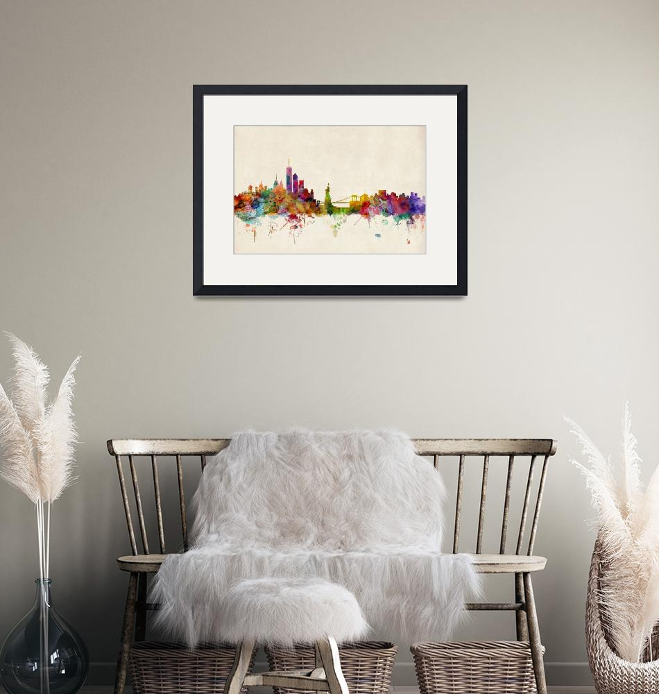 """New York Skyline""  (2013) by ModernArtPrints"