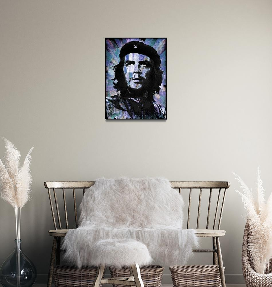 """Che Guevara Revolution Blue""  by RubinoFineArt"