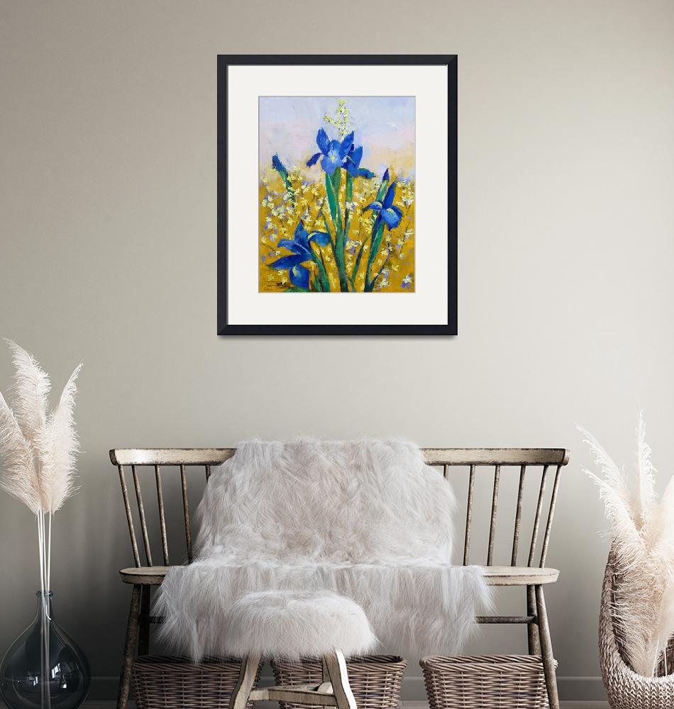 """Iris and Forsythia""  by creese"
