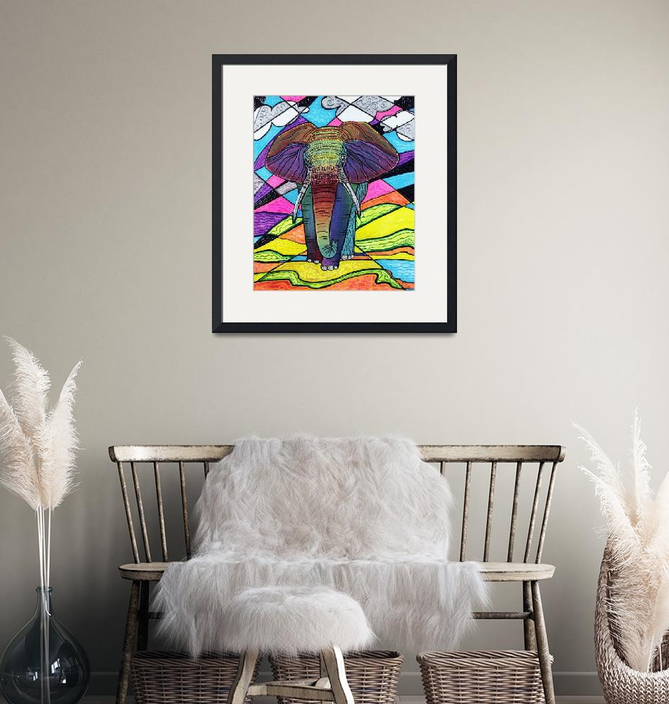 """""""The Mighty Elephant""""  (2016) by ArtPrints"""