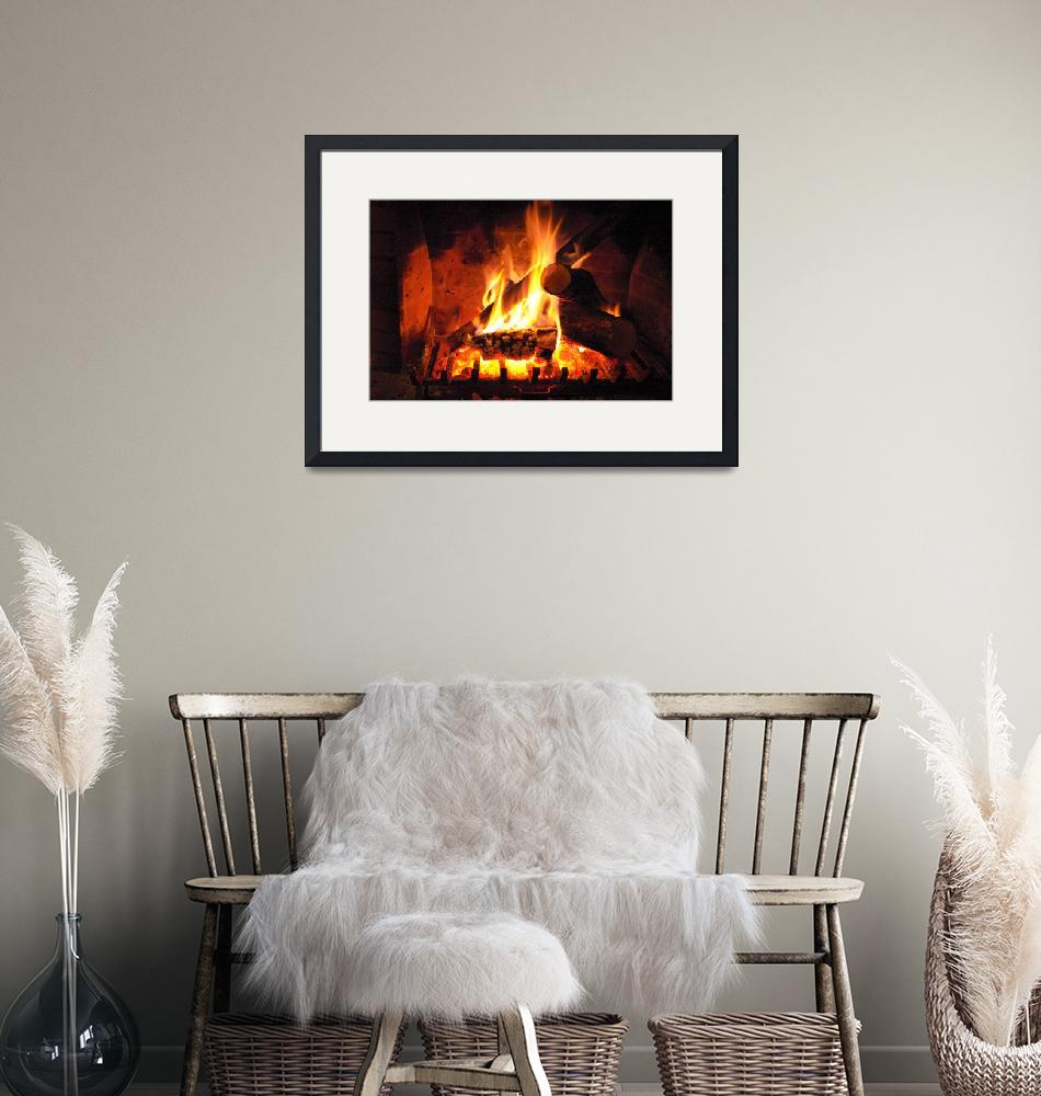 """""""Lighted fireplace""""  (2012) by kos29"""