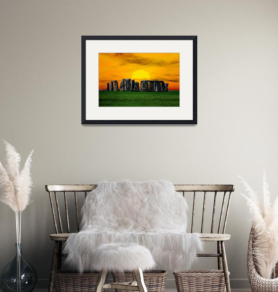 """""""Stonehenge at Sunset""""  by Gregory"""