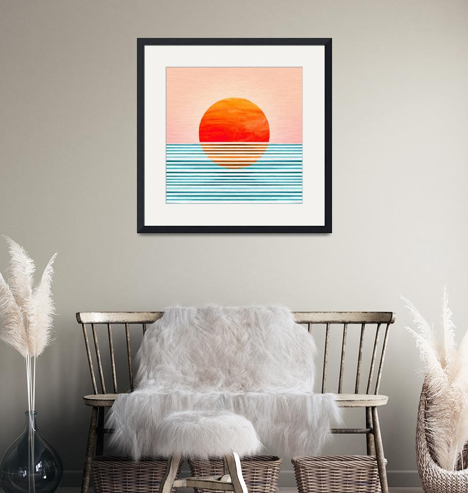 """""""Minimalist Sunset""""  (2020) by moderntropical"""