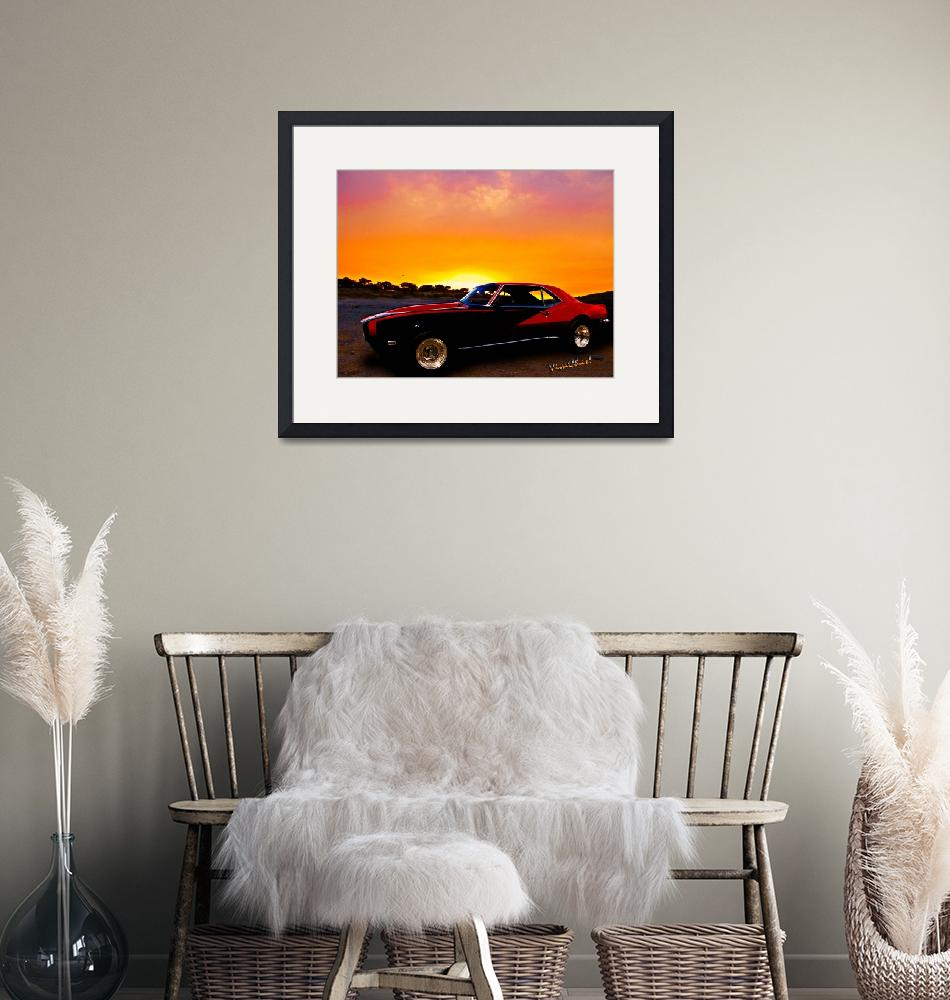 """""""69 Camaro Up At Rocky Ridge For Sunset""""  (2012) by chassinklier"""