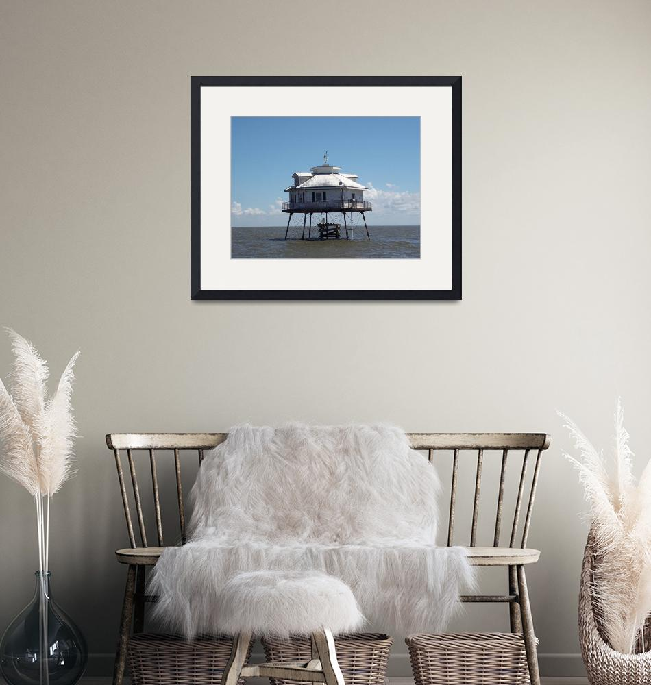"""""""Middle Bay Lighthouse, Mobile Bay""""  (2008) by mallseitz"""