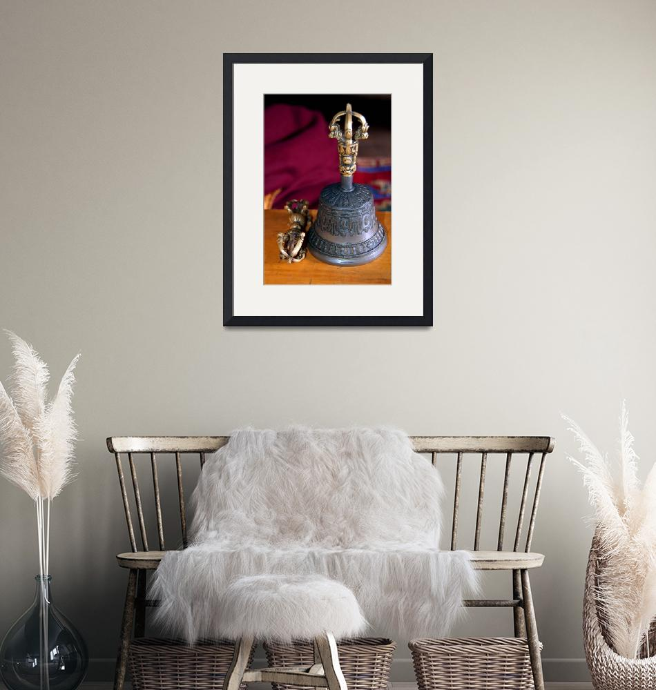 """""""Bell and Vajra Pisang Monastery""""  by Serena"""