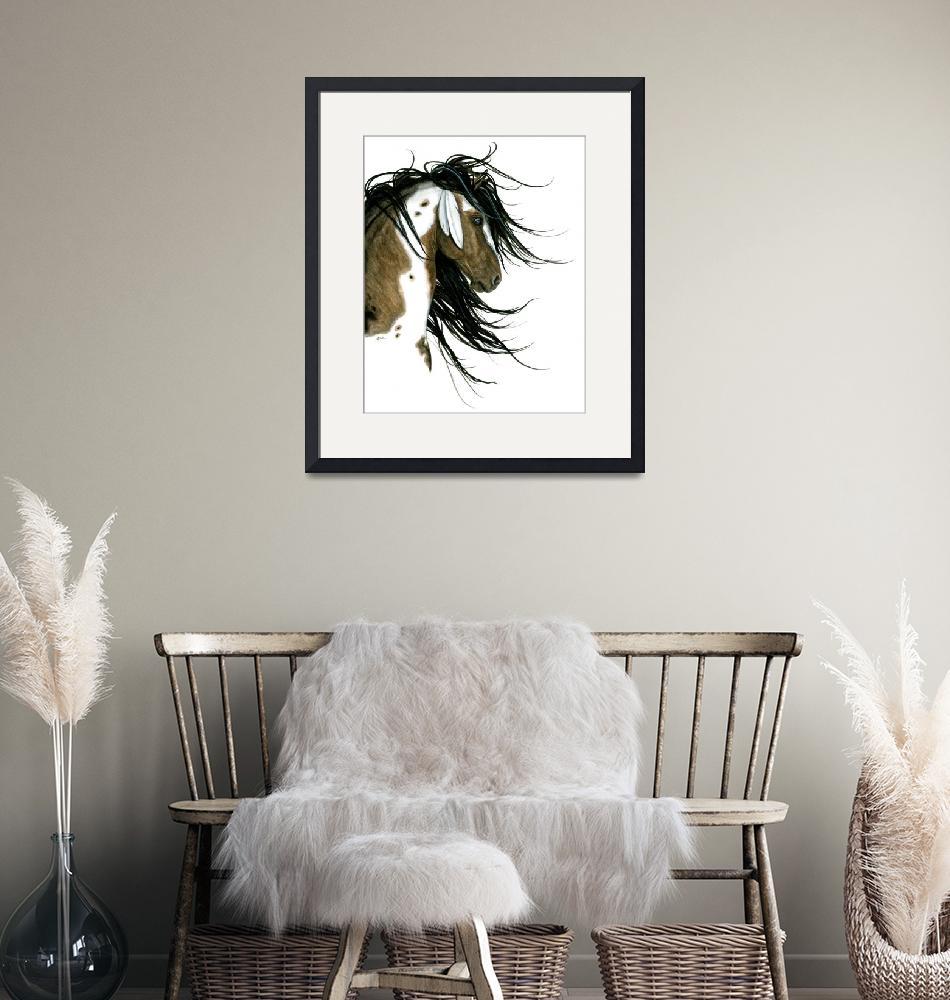"""""""Majestic Horse White Feathers"""" (2016) by AmyLynBihrle"""