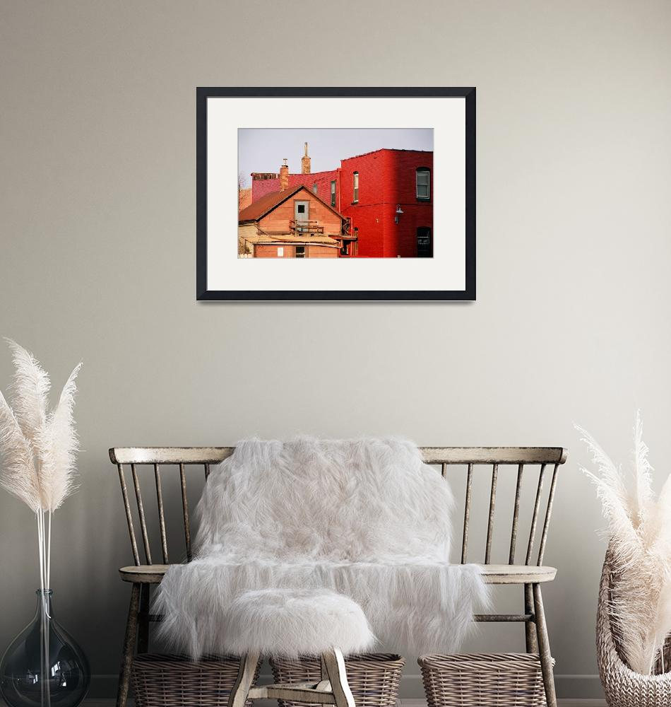 """""""Red Building""""  (2006) by dacrossphotography"""