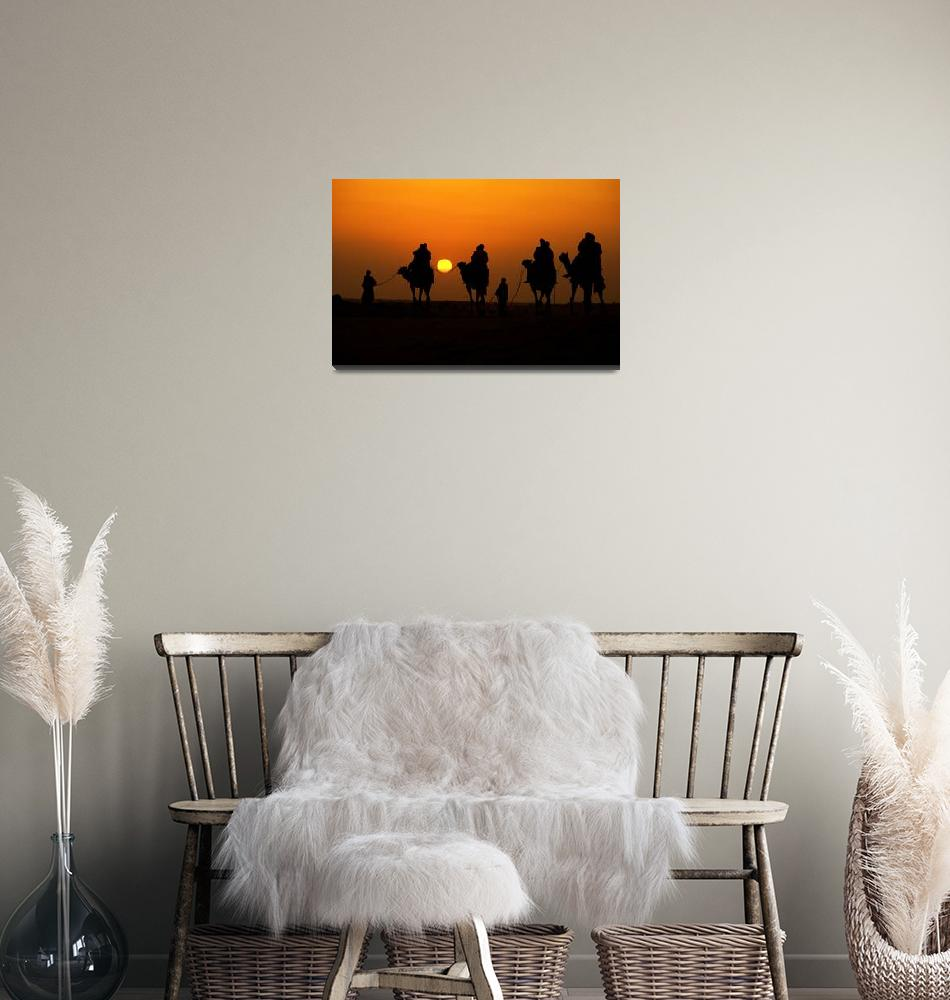 """Desert Sunset""  (2012) by SanjayNayar"
