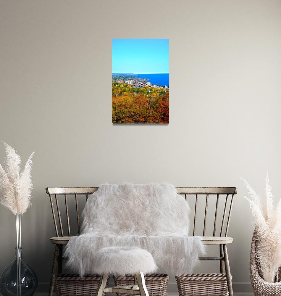 """Coastal Duluth in Autumn 2""  (2015) by robertmeyerslussier"