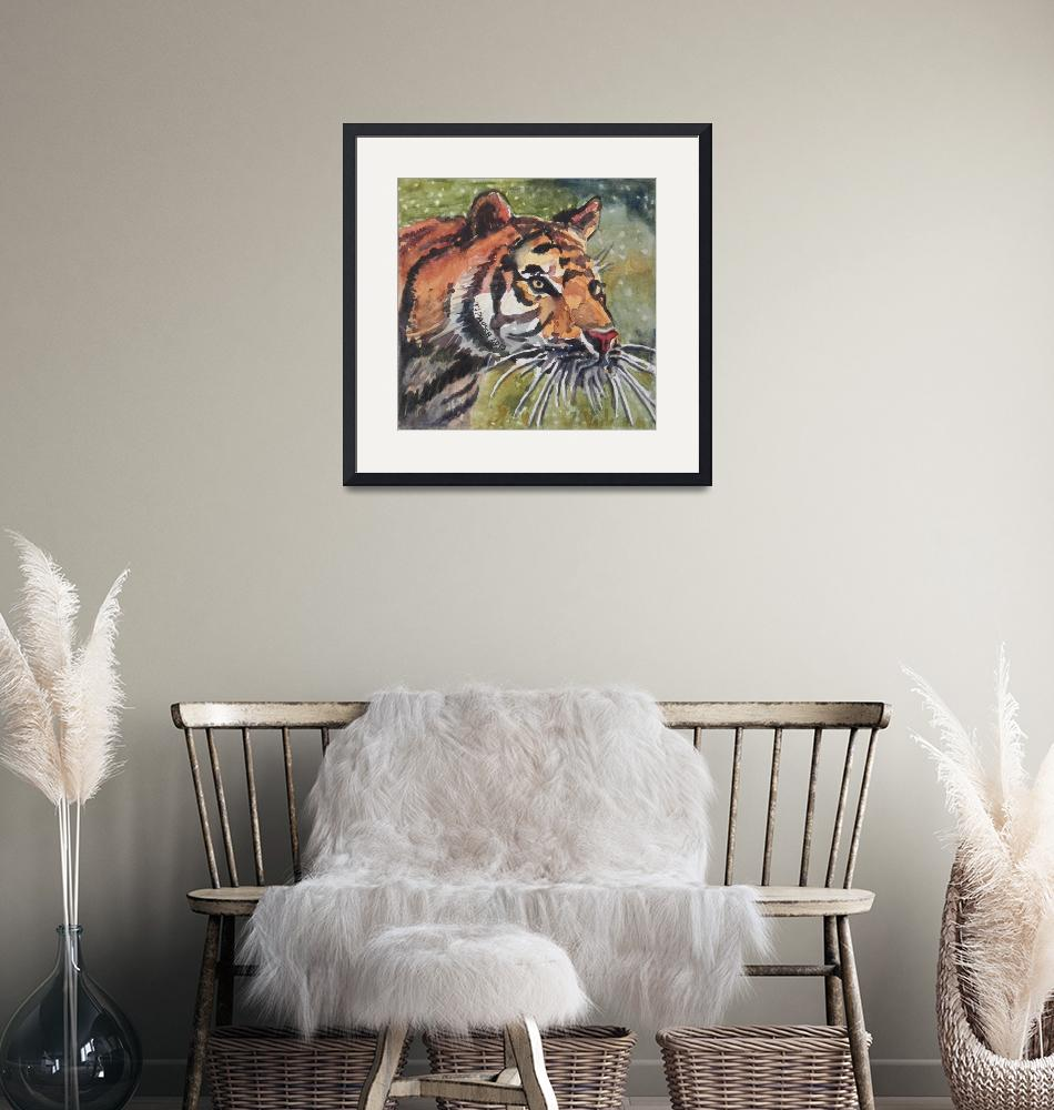 """""""Roaming Tiger""""  (2013) by PjCreates"""