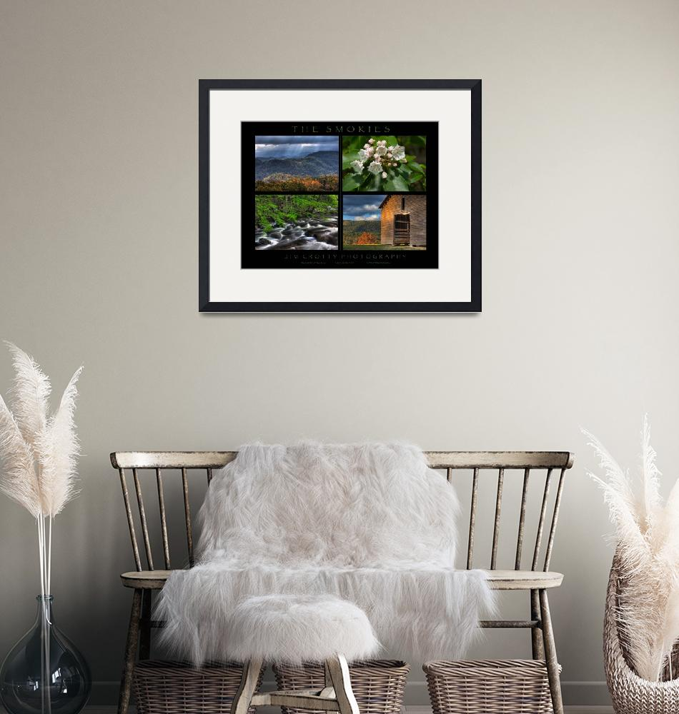 """""""Smoky Mountains Four Image Poster Print""""  (2009) by jimcrotty"""