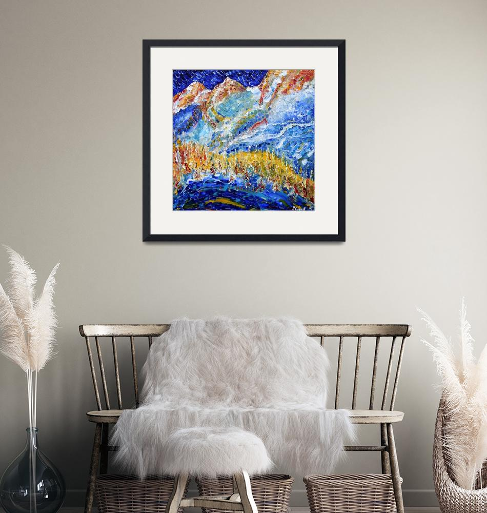 """""""Skiing Snowboarding Paintings""""  by PeteCaswell"""