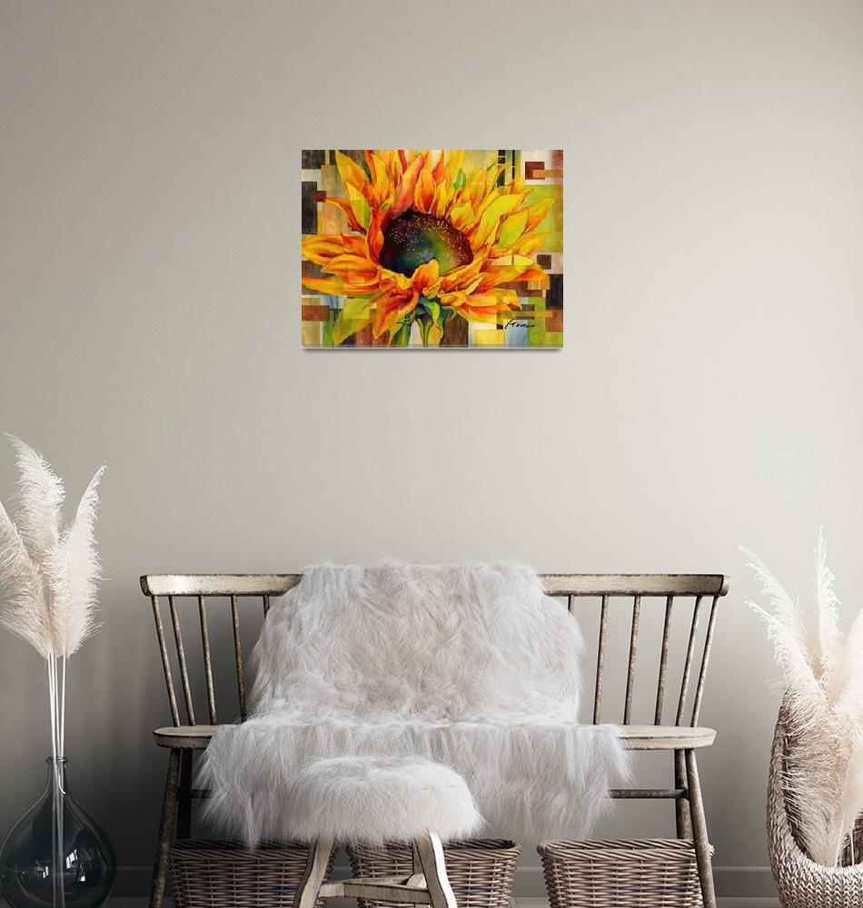 """Sunflower Canopy""  by HaileyWatermedia"