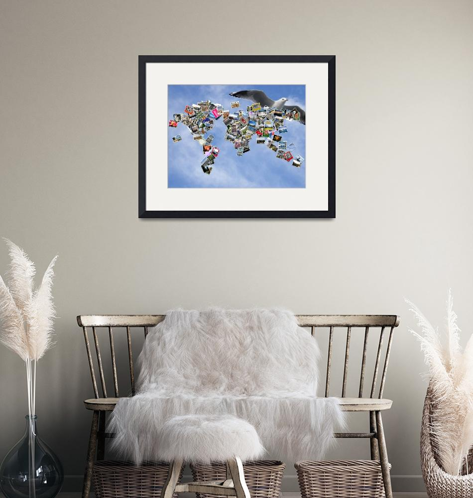 """Around the World Mosaic""  (2011) by carolmunrophotoart"