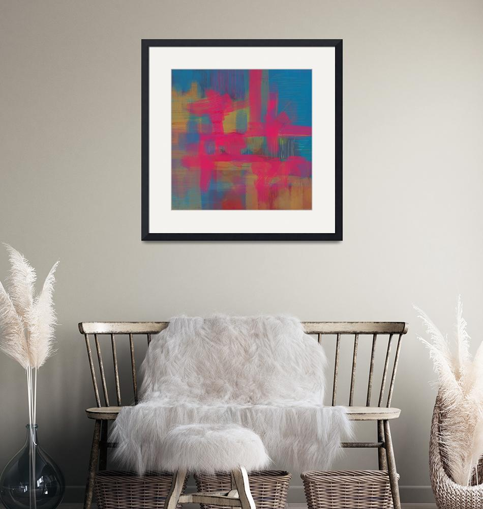 """""""Abstract Pink And Blue""""  (2016) by leitnerstudios"""