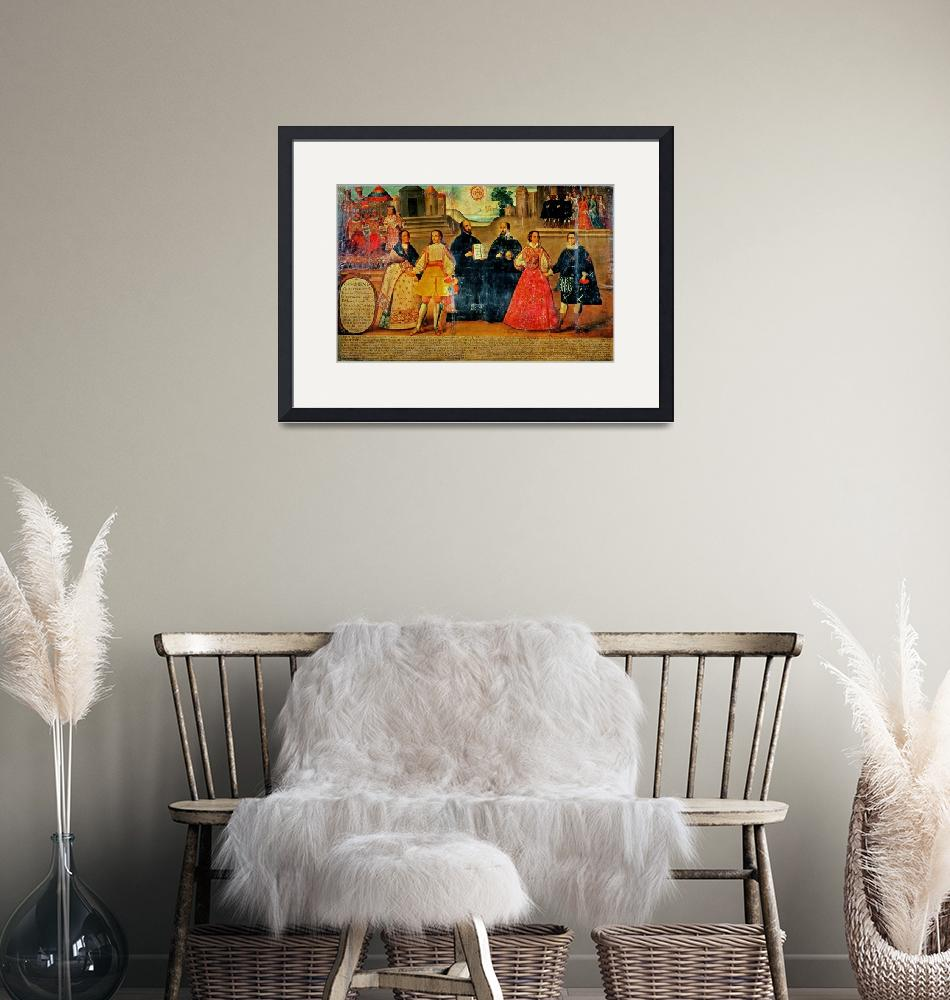 """""""Double wedding between two Inca women and two Span""""  by fineartmasters"""