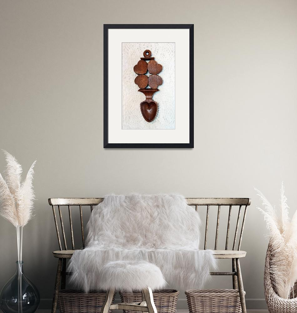 """""""Love Spoon Four Hearts by George Wood""""  (2014) by KsWorldArt"""