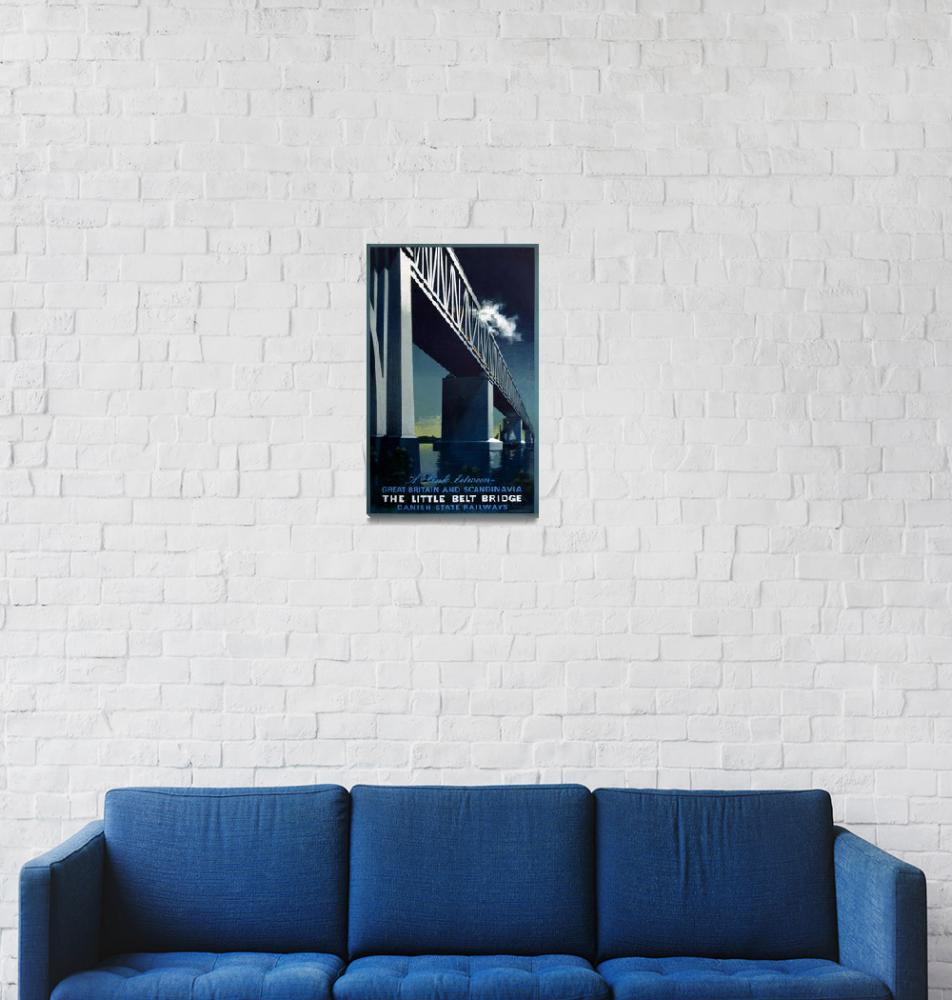 """The Little Belt Bridge Vintage Poster"" by FineArtClassics"