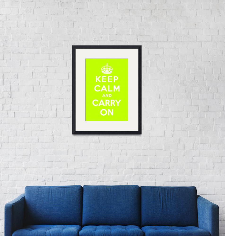 """Green Keep Calm And Carry On 1""  by oldies"