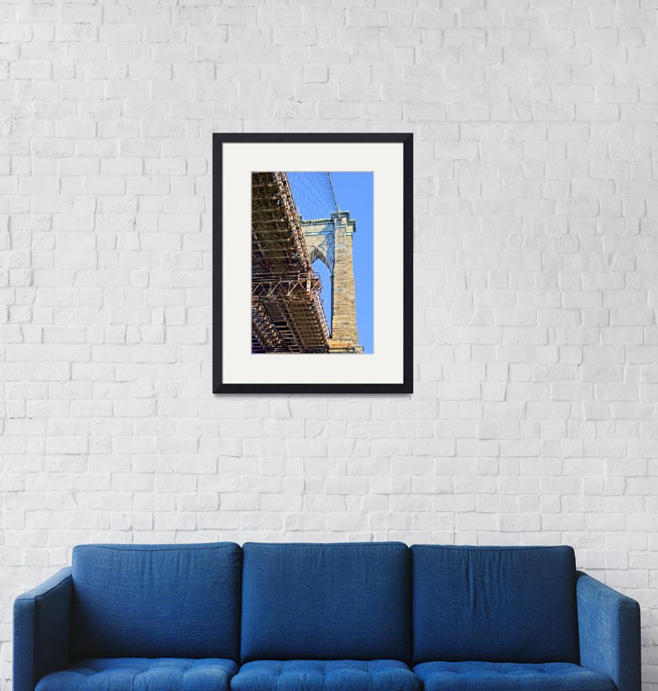"""Brooklyn Bridge Tower, NYC""  by New-Yorkled"