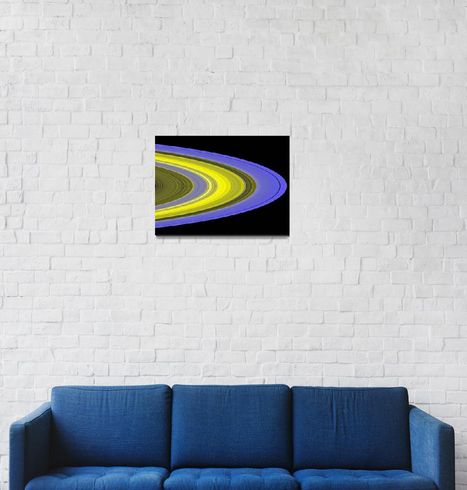 """""""Falsecolor image of Saturns rings""""  by stocktrekimages"""