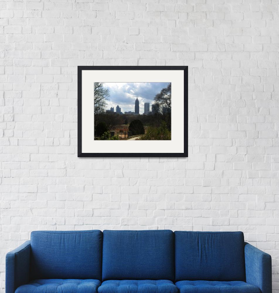 """""""View of Atlanta from Botanical Gardens""""  (2010) by ValeriesGallery"""