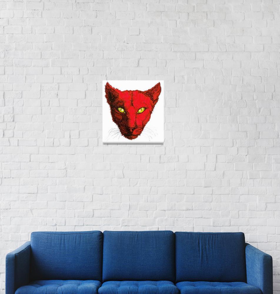 """Red Cat""  (1992) by OgleWarfield"