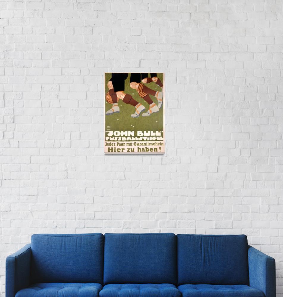 """John Bull Fussballsteifel Vintage Poster""  by FineArtClassics"