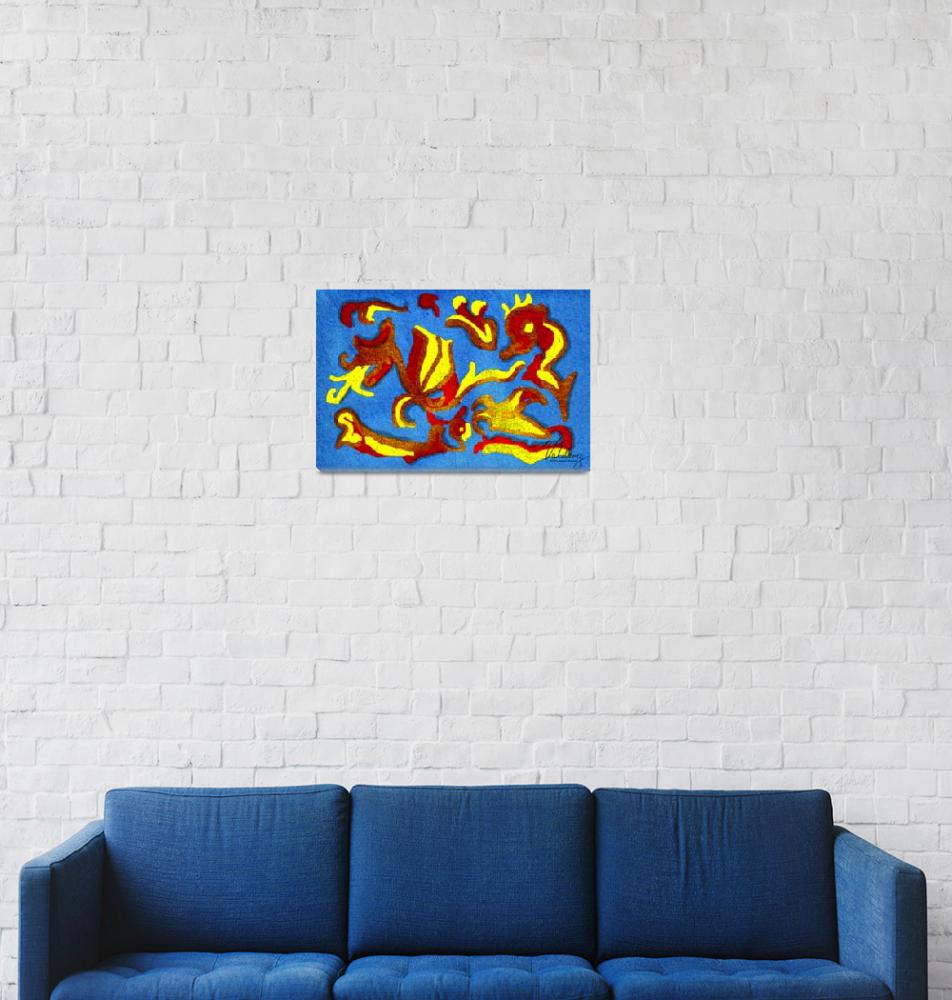 """""""Aztec Mola Abstract""""  (2008) by Valdary"""