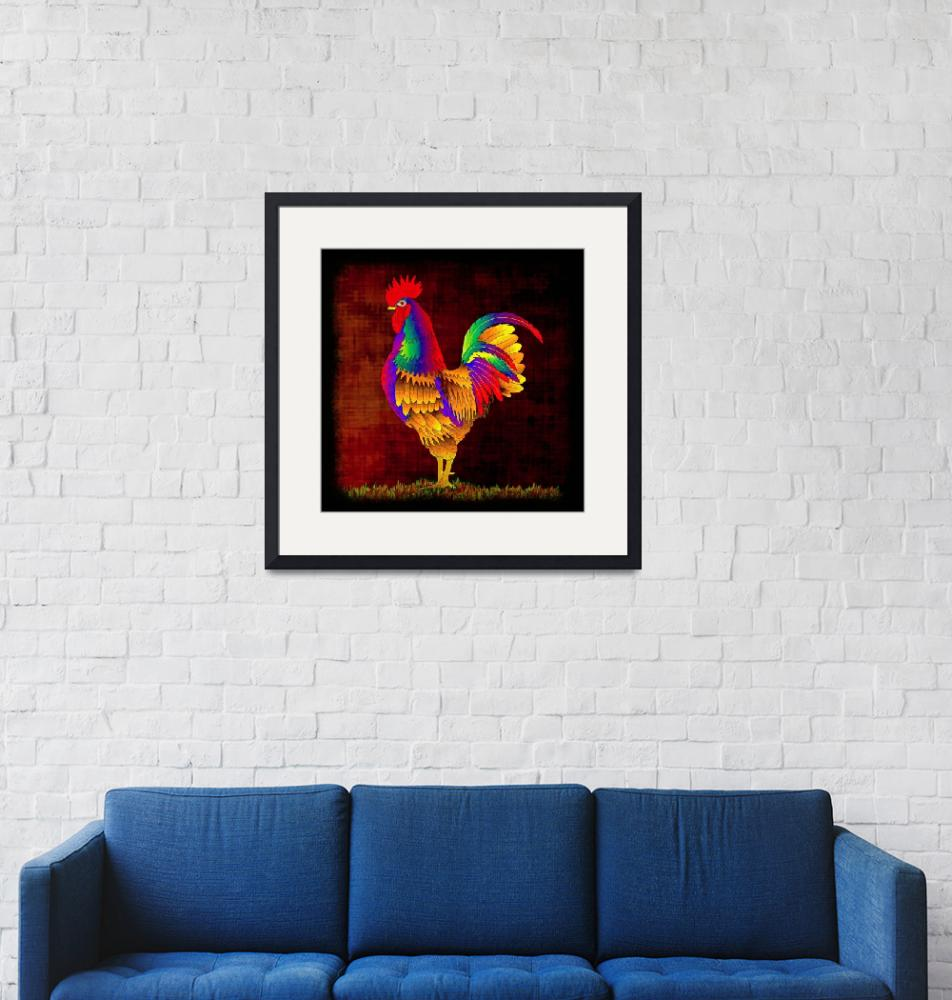 """""""Colorful Rooster (1)""""  (2010) by myikpix"""