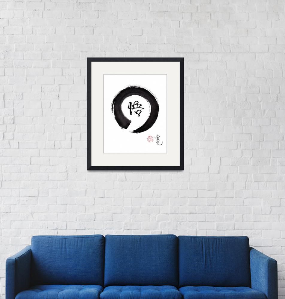 """Enso Enlightenment""  (2017) by oystudio"