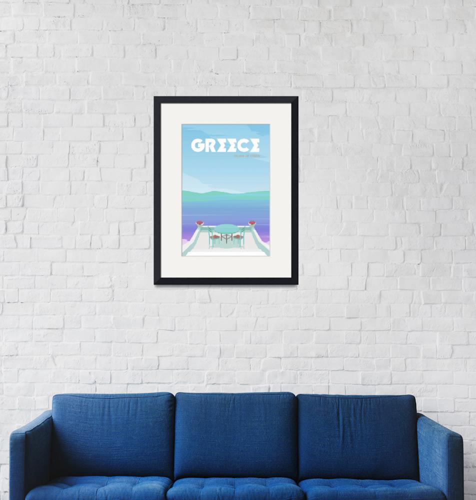 """""""Travel Poster of Greece 121""""  by Arpina"""