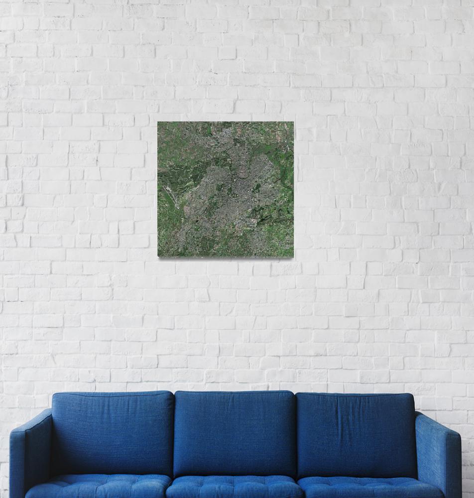 """Nicosia (Cyprus) : Satellite Image""  (2003) by astriumgeo"