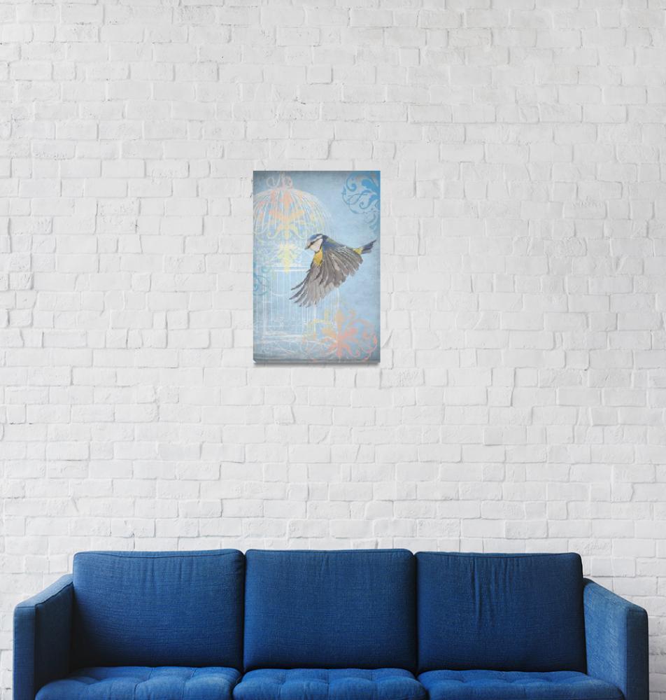 """Flying Free III Wall Art""  by circleart"