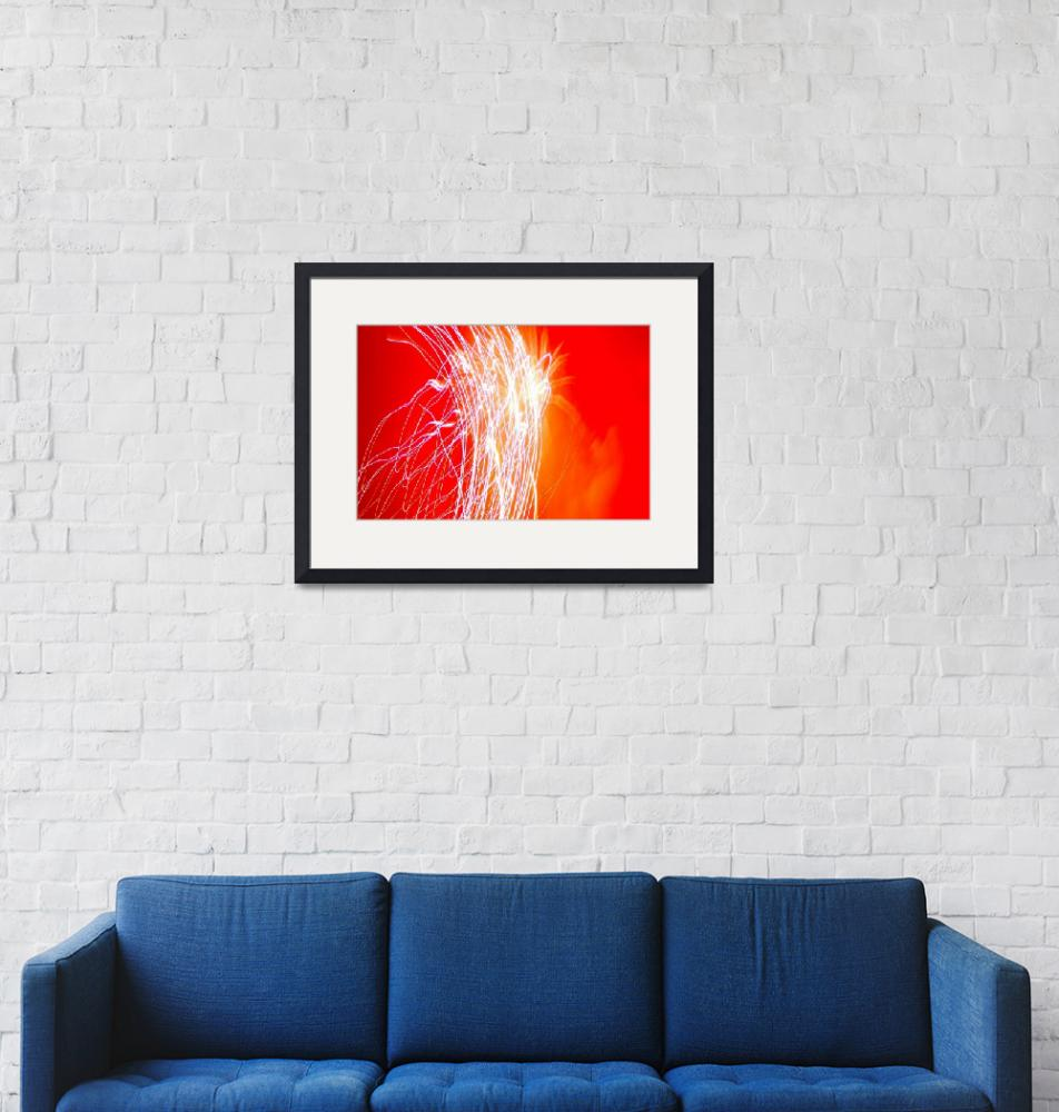 """""""Fireworks Abstract, Red""""  by mildlydiverting"""