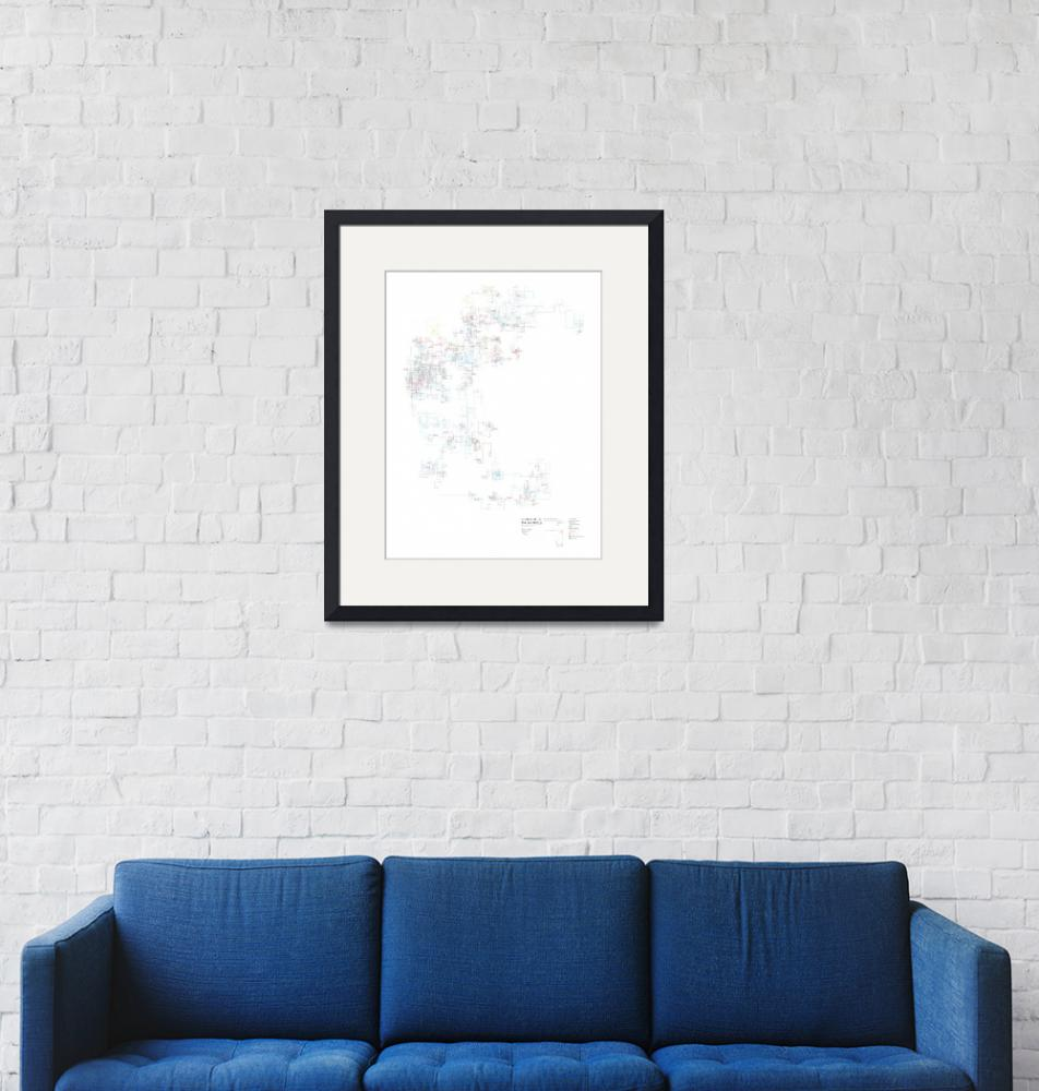 """""""Sentence Drawings Poster 36 in. wide x 48 in. high""""  (2006) by stefpos"""