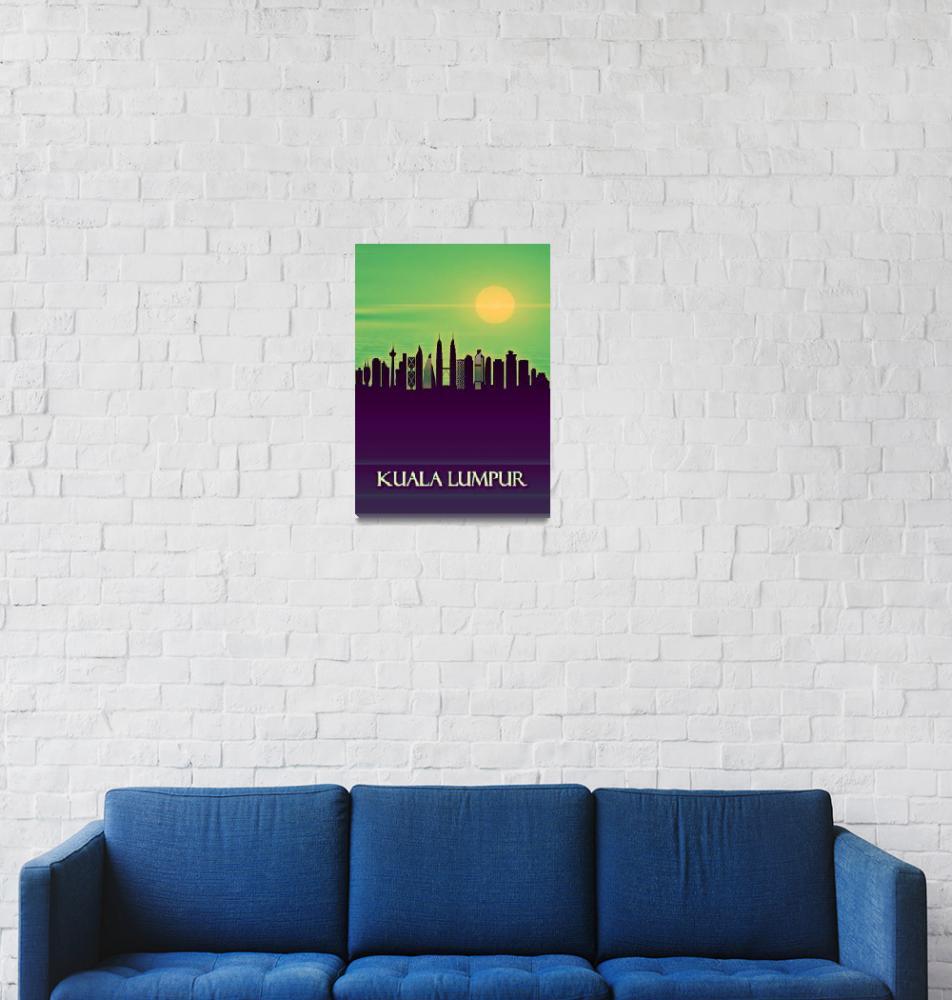 """Kuala Lumpur City Skyline""  by Towseef"