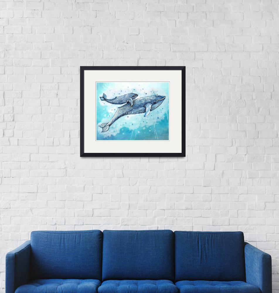"""""""Blue Whales""""  (2015) by Littlepig"""
