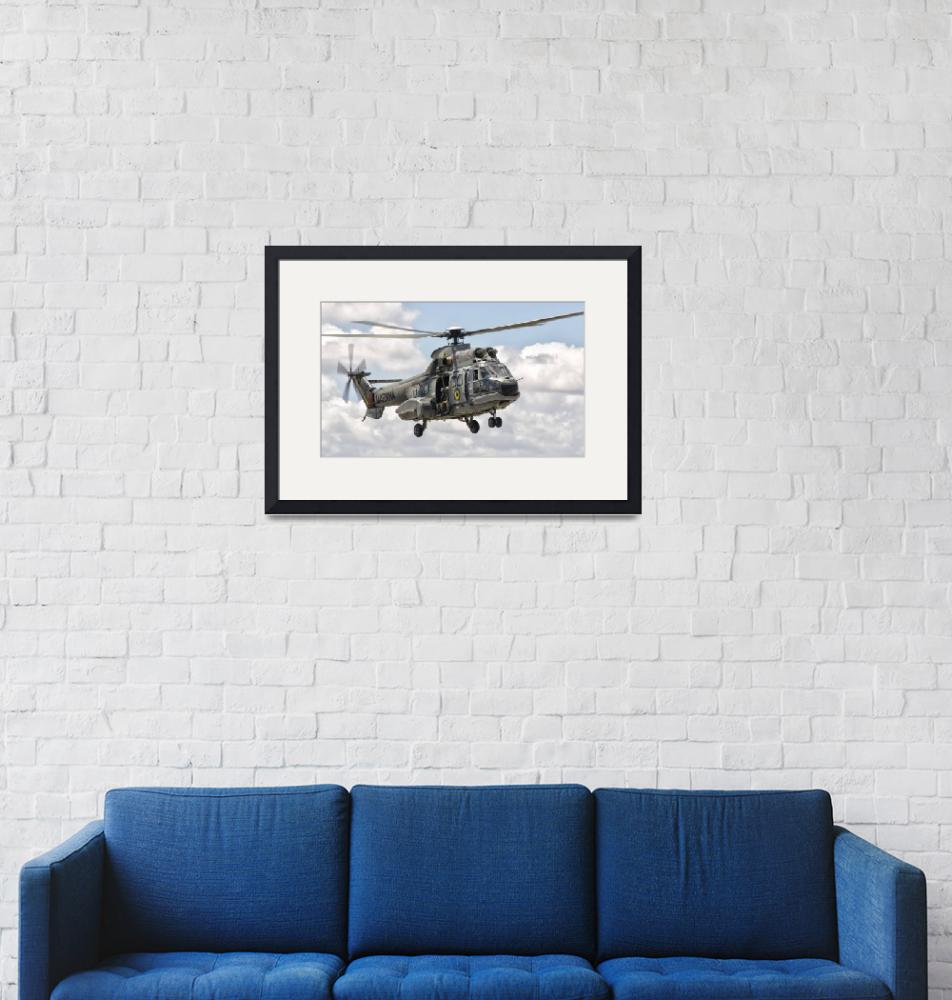 """""""A Eurocopter AS332 Super Puma helicopter of the Br""""  by stocktrekimages"""